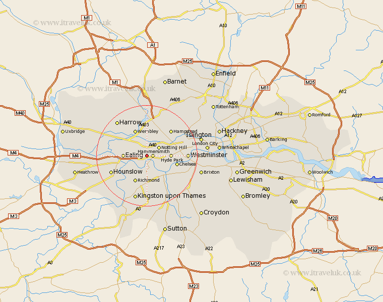 Acton Greater London Map