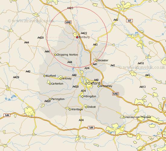 Banbury England Map.Banbury Map Street And Road Maps Of Oxfordshire England Uk