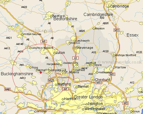 Berkhamsted Map - Street and Road Maps of Hertfordshire England UK