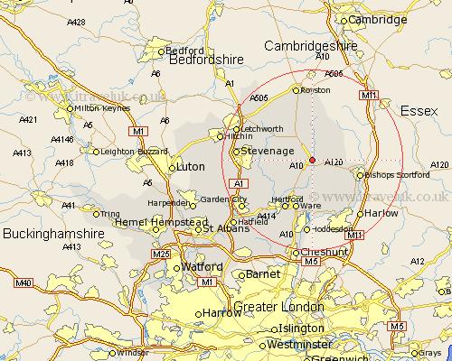 Braughing map
