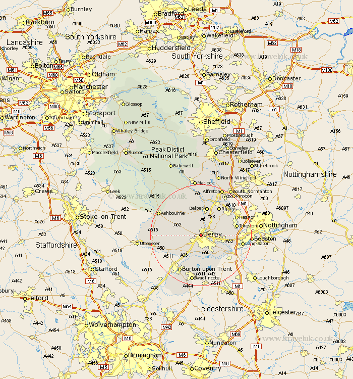Map Of England Derbyshire.Derby Map Street And Road Maps Of Derbyshire England Uk