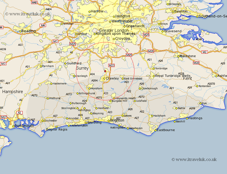 Map Of England Gatwick.Gatwick Map Street And Road Maps Of Sussex England Uk