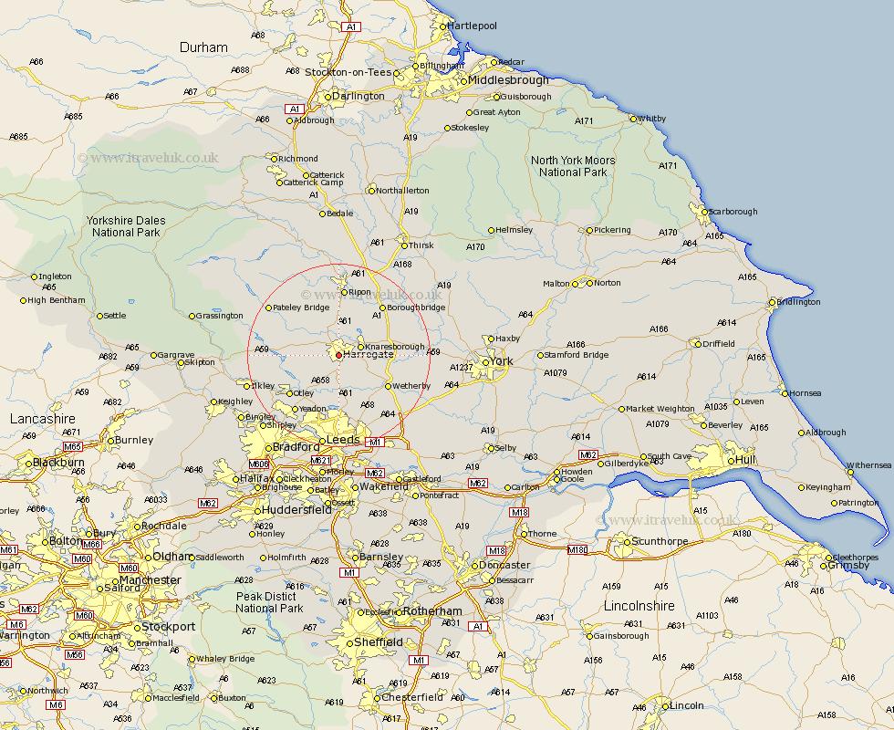 Harrogate England Map.Harrogate Map Street And Road Maps Of Yorkshire England Uk
