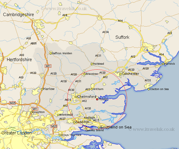 map of maldon essex