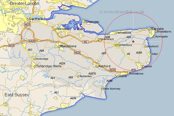 Preston England Map.Preston Map Street And Road Maps Of Kent England Uk