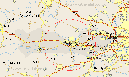 Map Of Reading Area Uk.Reading Map Street And Road Maps Of Berkshire England Uk