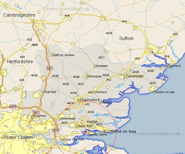 south benfleet essex map