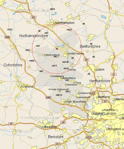 Stratford England Map.Stony Stratford Map Street And Road Maps Of Buckinghamshire England Uk