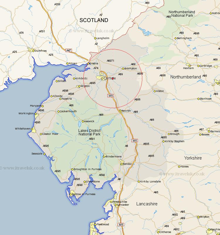 Warwick Map Street and Road Maps of Cumbria England UK – Map Uk Warwick