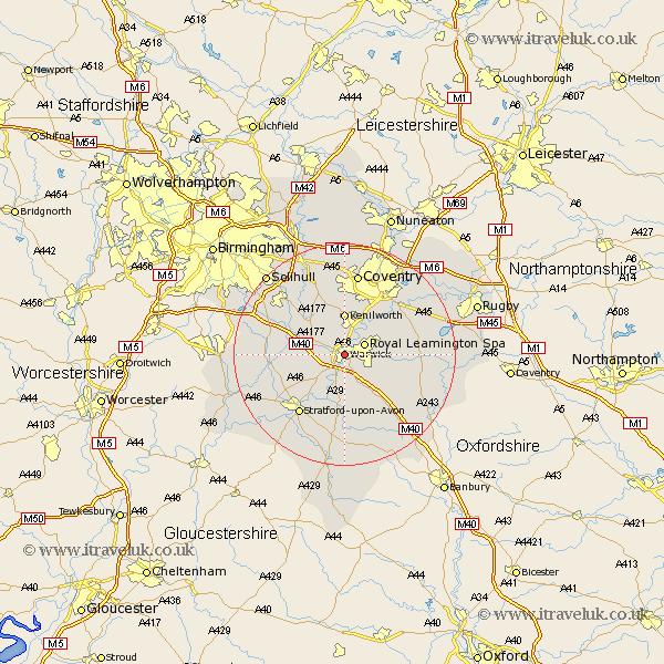 {Warwick Map Street and Road Maps of Warwickshire England UK – Map Uk Warwick