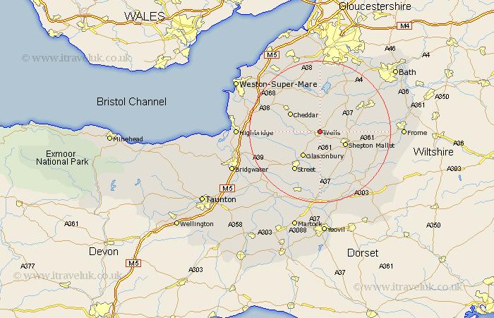 Map Of Wells Somerset Wells England Map ~ AFP CV