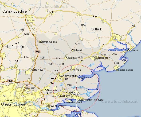 North Fambridge Map Street and Road Maps of Essex England UK – Map Uk North