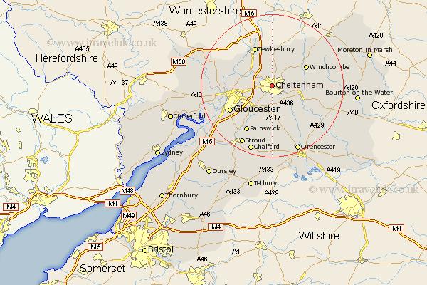 Lydney United Kingdom  City new picture : Cheltenham Map Street and Road Maps of Gloucestershire England UK