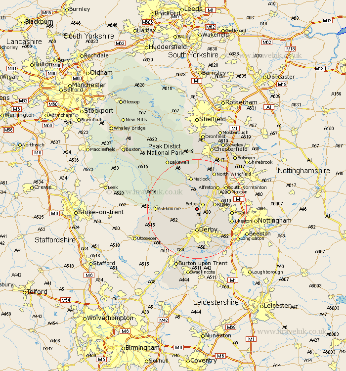 Hazelwood derbyshire map