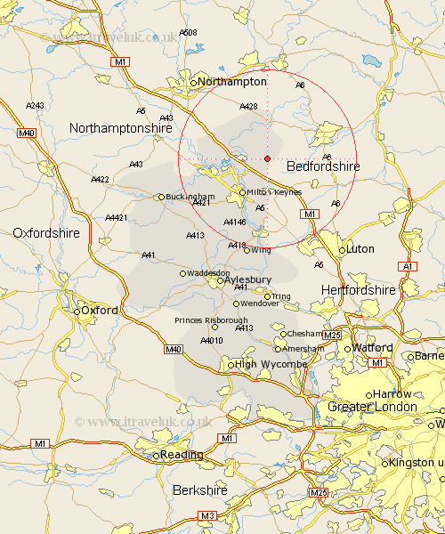 North Crawley Map Street and Road Maps of Buckinghamshire England UK – Map Uk North