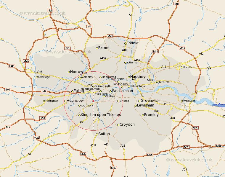 London Map Fulham Azrf
