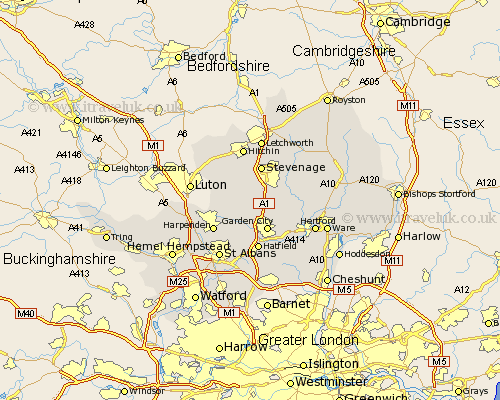 Hertfordshire Map