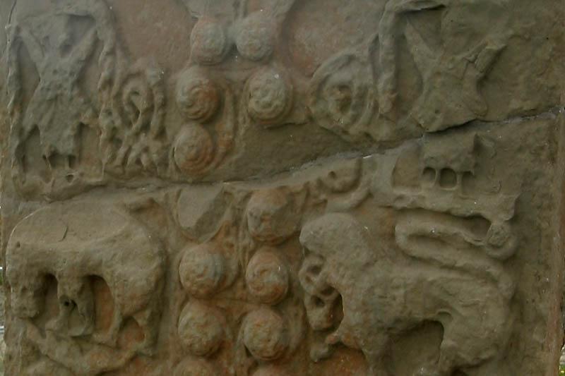 Pictish spirals photo picture image shandwick stone