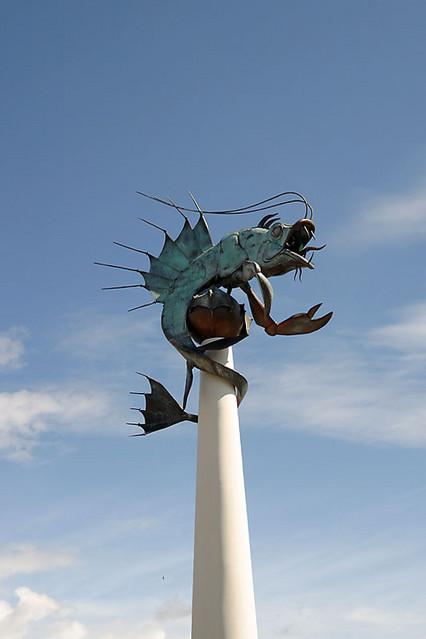 barbican prawn sculpture