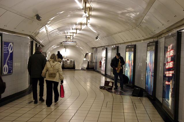 oxford circus underground busker