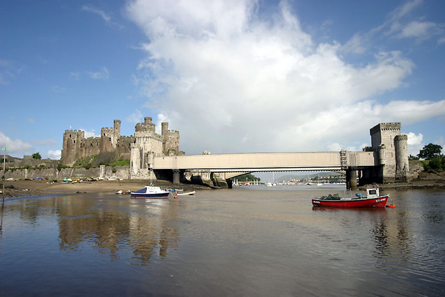 conwy castle from across estuary