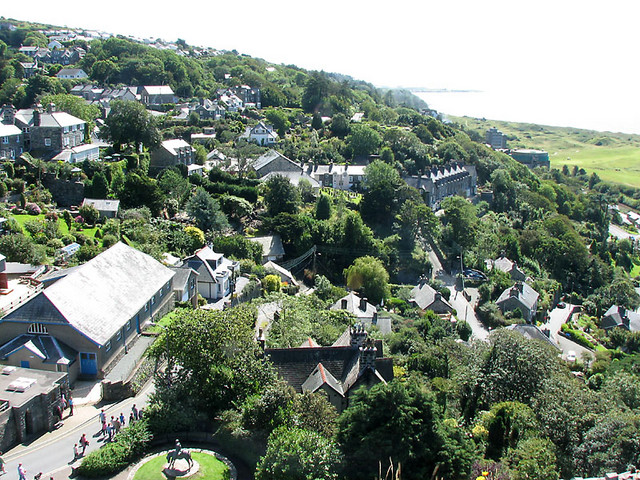 harlech from castle