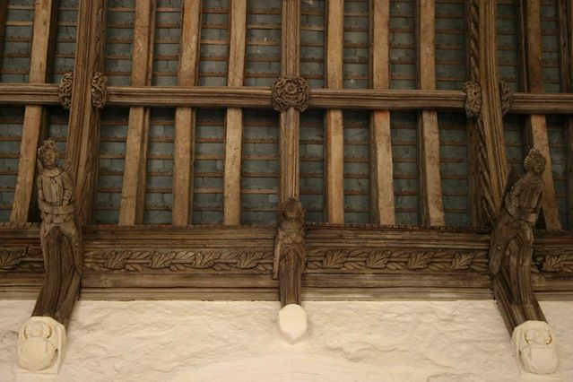carved angles refectory roof