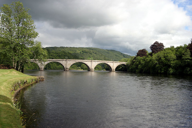 dunkeld bridge over river tay