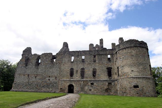front of castle