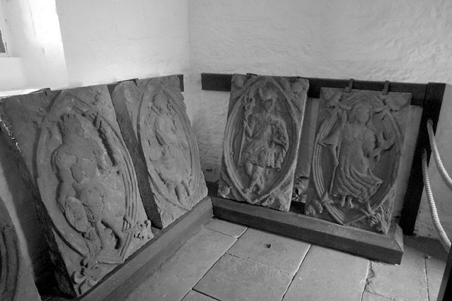 carved garden plaques