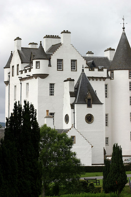 blair castle from gardens