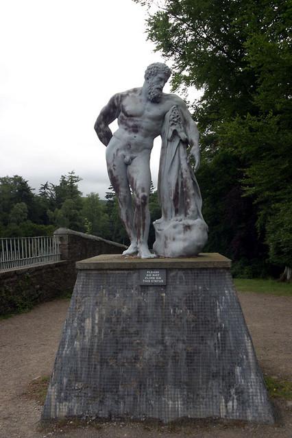 hercules garden statue