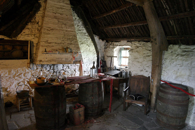 Inside Old Leanach Cottage