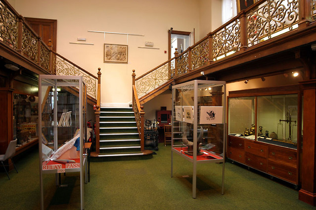 inside falconer museum