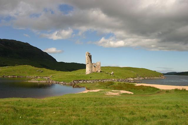 front of ardvreck castle