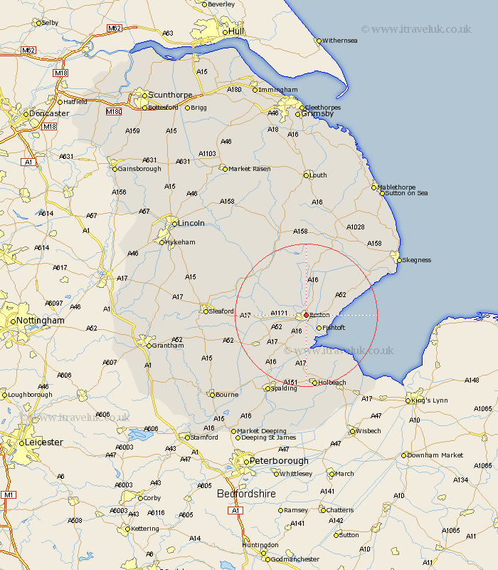Boston Uk Map Boston Map   Street and Road Maps of Lincolnshire England UK Boston Uk Map