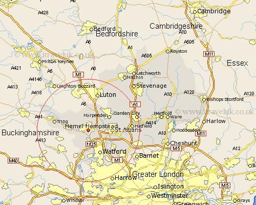 Hemel Hempstead Map Hemel Hempstead Map   Street and Road Maps of Hertfordshire England UK