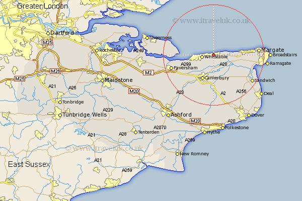 Herne Bay Map Herne Bay Map   Street and Road Maps of Kent England UK Herne Bay Map