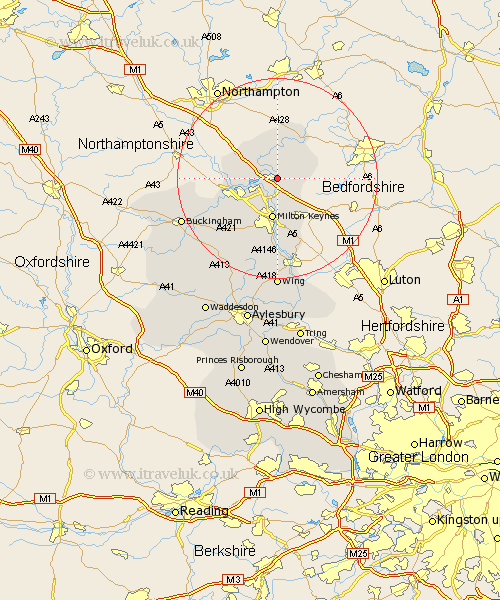 Lathbury Buckinghamshire Map