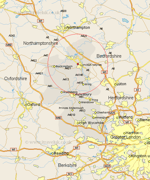 Loughton Buckinghamshire Map