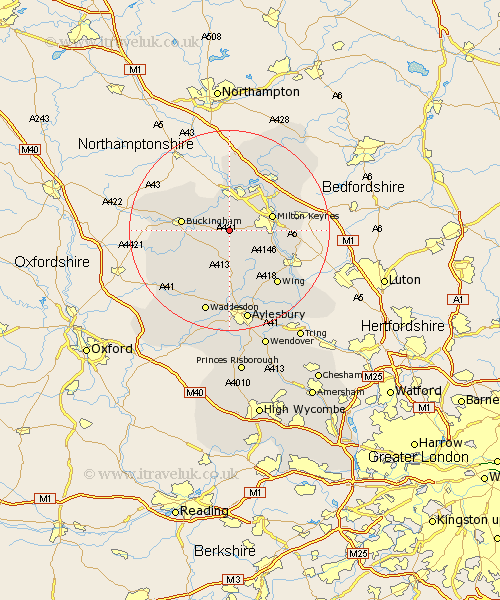 Nash Buckinghamshire Map