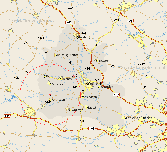 Radcot Oxfordshire Map
