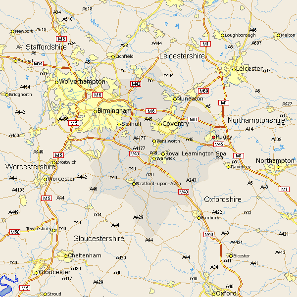 Rugby Uk Map Rugby Map   Street and Road Maps of Warwickshire England UK Rugby Uk Map